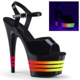Lakovaná 18 cm ADORE-709UVLN2 Sandály Neon Platformě