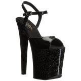 Lakovaná 20 cm Pleaser XTREME-809MG třpyt boty na vysokém podpatku