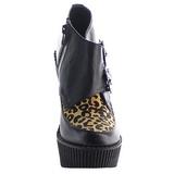 Leopard Koženka CREEPER-306 klínové creepers boty platformě
