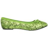 Limetkově STAR-16G třpyt dámské baleríny obuv