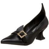 Matná 6,5 cm SALEM-06 čarodějnické boty lodičky