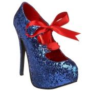Modré Třpyt 14,5 cm TEEZE-10G Concealed burlesque Lodičky Dámské Stiletto Podpatků