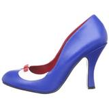 Modrý 10,5 cm SMITTEN-05 dámské boty na vysokém podpatku