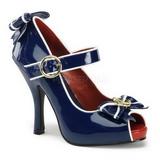 Modrý 11,5 cm ANCHOR-22 dámské boty na vysokém podpatku