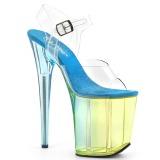 Modrý 20 cm FLAMINGO-808MCT sandály pro tanec na tyči