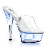 Modrý LED Zarovka 15,5 cm KISS-201LT Pantofle na vysokém podpatku