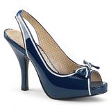 Modrý Lakovaná 11,5 cm PINUP-10 velké velikosti sandály dámské