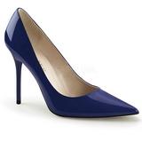 Modrý Lakované 10 cm CLASSIQUE-20 Lodičky Dámské Stiletto Podpatků