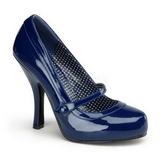 Modrý Lakované 12 cm retro vintage CUTIEPIE-02 Vysoké lodičky na podpatky