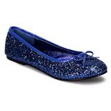 Modrý STAR-16G třpyt dámské baleríny obuv