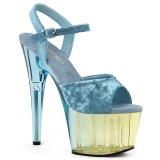 Modrý Samet 18 cm ADORE-709MCT sandály pro tanec na tyči