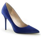 Modrý Satén 10 cm CLASSIQUE-20 Lodičky Dámské Stiletto Podpatků