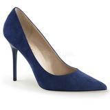 Modrý Semiš 10 cm CLASSIQUE-20 Lodičky Dámské Stiletto Podpatků