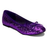 Nachový STAR-16G třpyt dámské baleríny obuv