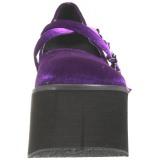 Nachový Samet 11,5 cm KERA-10 platformě gothic boty