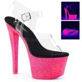 Neon 18 cm Pleaser SKY-308UVG Boty na podpatku pro tanec na tyči