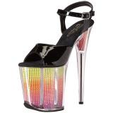 Neon 20 cm FLAMINGO-808SRS Sandály kamínky Platformě