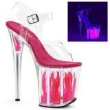 Neon 20 cm Pleaser FLAMINGO-808FLM Boty na podpatku pro tanec na tyči