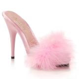 Pink 13 cm POISE-501F peří marabu Vysoké Podpatku