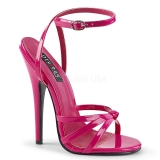 Pink 15 cm Devious DOMINA-108 dámské sandály na podpatku