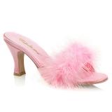 Pink 7,5 cm FLAPPER-01F peří marabu Vysoké Podpatku