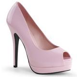 Pink Lakované 13,5 cm BELLA-12 Lodičky Dámské Stiletto Podpatků
