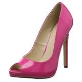 Pink Lakované 13 cm SEXY-42 Lodičky na jehlovém podpatku