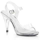 Průhledný 10,5 cm CARESS-408 sandály vysoký podpatek