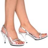 Průhledný 10,5 cm CARESS-456 sandály vysoký podpatek