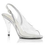 Průhledný 10 cm CARESS-450 dámské sandály na podpatku