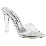 Průhledný 11,5 cm CLEARLY-401 Pantofle na vysokém podpatku