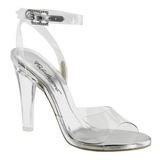 Průhledný 11,5 cm CLEARLY-406 Večerní Sandály s podpatkem