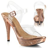 Průhledný 11,5 cm ELEGANT-408 boty na vysoké podpatky soutě� třeba na bikini fitness