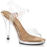 Průhledný 11,5 cm FLAIR-408 boty na vysoké podpatky soutě� třeba na bikini fitness