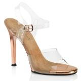 Průhledný 11,5 cm GALA-08 boty na vysoké podpatky soutěž třeba na bikini fitness