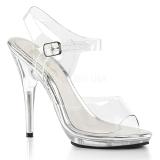 Průhledný 12,5 cm POISE-508 dámské sandály na podpatku