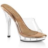 Průhledný 13 cm LIP-101 boty na vysoké podpatky soutěž třeba na bikini fitness