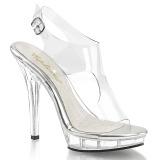 Průhledný 13 cm LIP-107 dámské boty na vysokém podpatku