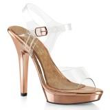 Průhledný 13 cm LIP-108 boty na vysoké podpatky soutě� třeba na bikini fitness