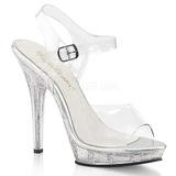Průhledný 13 cm LIP-108MG dámské boty na vysokém podpatku