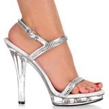 Průhledný 13 cm LIP-117 dámské boty na vysokém podpatku