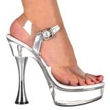 Průhledný 14 cm SWEET-408 dámské boty na vysokém podpatku