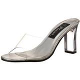 Průhledný 8,5 cm ROMANCE-301 Pantofle na vysokém podpatku