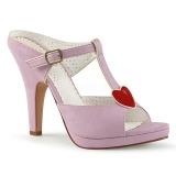 Růžový 10 cm SIREN-09 Pantofle Vysoké Podpatky