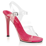 Růžový 11,5 cm FABULICIOUS GALA-08 Večerní sandály s podpatkem