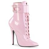 Růžový 15 cm DOMINA-1023 stiletto boty na vysoké podpatky