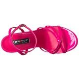 Růžový 15 cm DOMINA-108 fetiš boty na podpatku