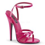 Růžový 15 cm Devious DOMINA-108 dámské sandály na podpatku