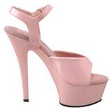 Růžový 15 cm Pleaser KISS-209 Vysoké Podpatky Platformě