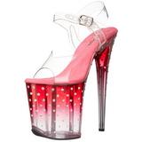 Růžový 20 cm STARDUST-808T Platformě Sandály Podpatky